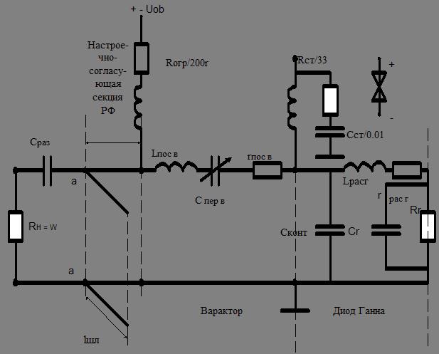 схема на диоде Ганна с