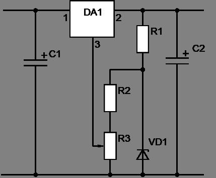 Составляем схему стабилизатора