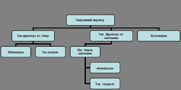 Большой Каталог Рефератов Курсовая работа Пути увеличения  Организационная диаграмма